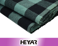 Plain Weave Woven 100% Cotton Double Layer/Double Face Material Yarn Dyed Checks Shirt Fabric and Textile
