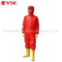 Simplified chemical protective suit for fireman