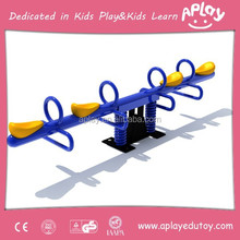 Kids double seat and four seats seesaw for children outdoor playground seesaw equipment spring toy AP SS0070