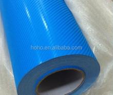 Self adhesive film carbon fiber 4d, vinyl car wrap, green auto carbon fiber wrap vinyl film