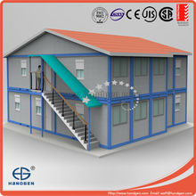 Foldable sandwich panel container prefabricated residential houses