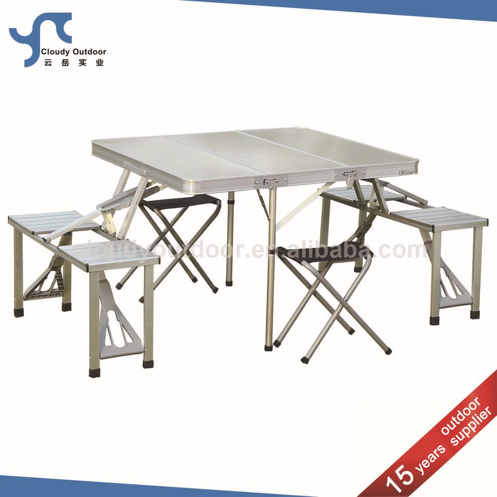 outdoor aluminium koffer goedkope opvouwbare picknicktafel stoel set klaptafels product ID