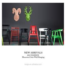 Resin craft modern colorful animal head wall decor home wall decoration