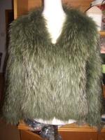 YR765 Genuine quality winter raccoon fur coat for women hot sale women's jacket