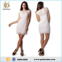 Shandao 2016 summer white lace sleeveless ladies casual latest dress designs