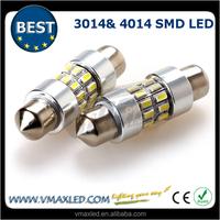 Factory wholesales best sellers 24x3014 canbus led car light 39mm led festoon car led interior lamp