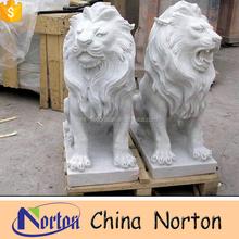 life size stone lion garden sculptures NTBM-L068S