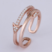 s925 silver crystal Cupid's gold arrow ring design design for couples
