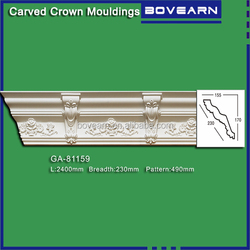 Shop decoration cornice / economic and durable cornice /PU foam cornice