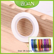 Thin Self Adhesive White Color Nail Art Decoration Sticker Nail Tape