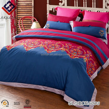 Cotton satin embroidered bed skirt bedding princess bed skirt fitted bed sheet