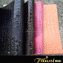 crocodile skin pu bag leather fabric/cheap crocodile skin bag leather made in china/low price crocodile synthetic leather