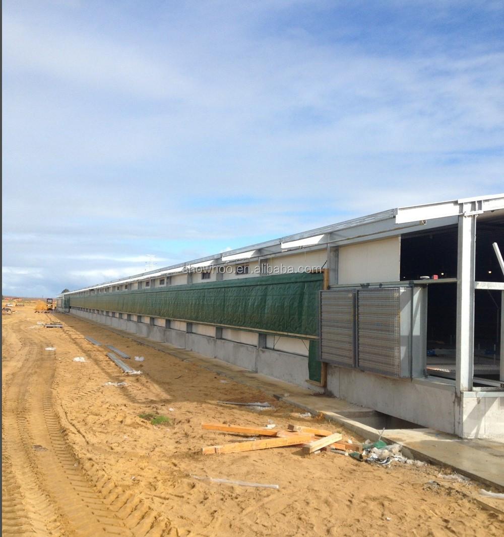 Basso costo industriale capannone struttura in acciaio for Costo della costruzione dell edificio