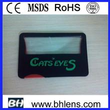 led light lens / business card magnifier