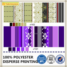 dyed fabric stripe and printed fabric 100% polyester