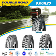 2015 new Double Road / Double Star / Longmarch truck tire 9.00R20 10.00r20 suitable for minning