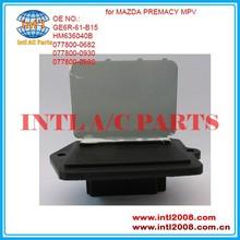 Heater blower motor resistor for Mazda 323 Premacy HM636040B GE6R-61-B15 0778000682 0778000930 China fan resistor factory