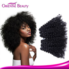 Star Quality Unprocessed Human Hair Large Fashion 2015 Natural Hair Extension Stock Famous Raw Virgin Hair Chinese Kinky Curly