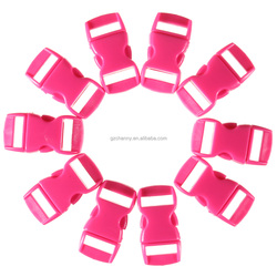 10pcs/lot multicolor 10mm Shackle Contoured Curved Side Release Plastic Buckle for Paracord Bracelet