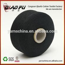 Very cheap yarn in black color recycled oe carded yarn