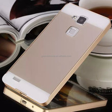 2015 NEW Arrival New Luxury Acrylic Back Cover & Aluminum Bumper Metal Case For Ascend Mate 7