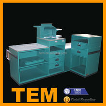 Small Size Large Capacity Store Cashier Table With Drawers