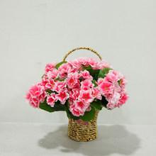 0.8 FT Lifelike Begonia Flowers Fake Silk Artificial Flowers Bouquet Wholesale