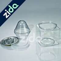 Transparent PET Plastic Cookie Jar wholesale in China