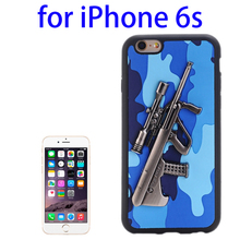 Paypal Accepted 3D Steyr AUG A1 Gun Pattern Leather and TPU Phone Case for iPhone 6s