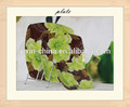 Flor de moda y placa de vidrio decorativo para frutas y verduras
