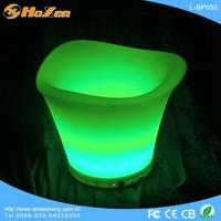 Led color changing alcohol ice bucket L-D06