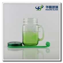 16oz square glass mug with handle wholesale