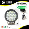 "9"" high power 185watt led work light offroad led driving light"