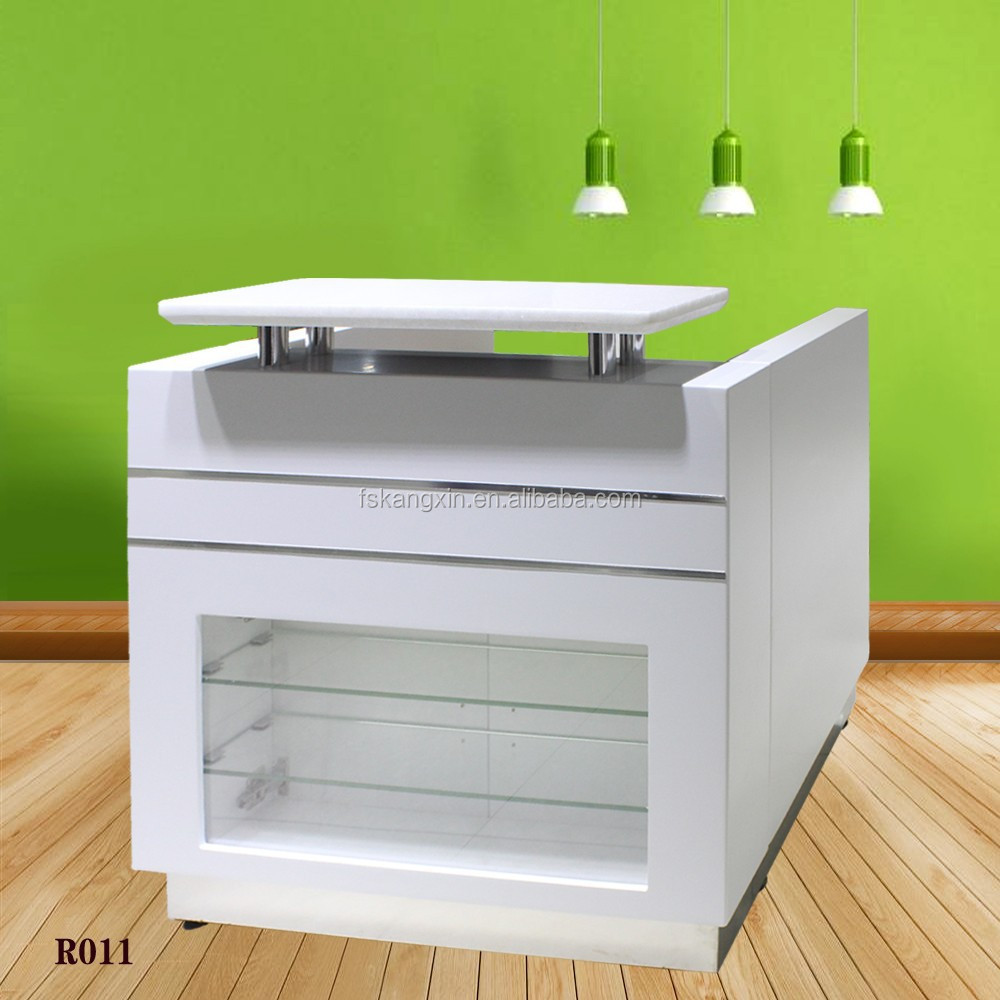 reception desk with glass panel glass display reception desk r011 buy glass display