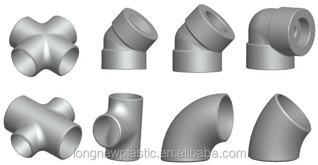 Custom made pvc cpvc ppr hdpe bress hydraulic pipe fitting