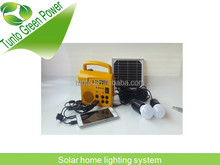 Solar charge time 12-15 hours solar system lighting kits ,220V/110V AC adapter,material ABS+Acrylic,CE,Rohs