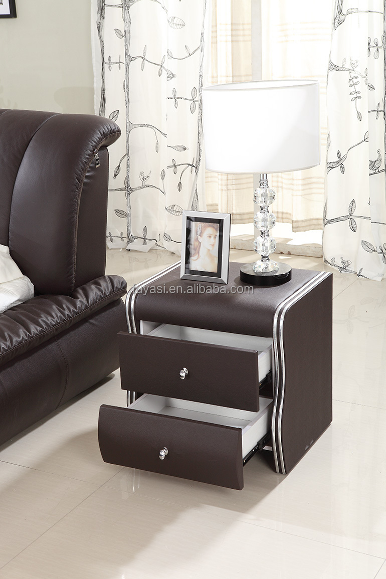 kingsize bed nachtkastje nachtkastje meubels moderne lederen bed ...