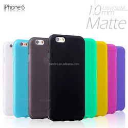 Hot selling Moblie Phone Accessories Color Cheap Matte TPU Silicone Case for iPhone 6 plus