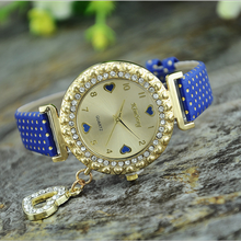 In 2015 the concept of mad sell cool dazzle set auger high-grade leather watch