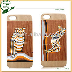 For iPhone 5C Case Cover Engraving Nouveau Art Hard wood Skin Protective Case Cover/smart Cell Phone Cases accessories for 5s