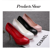 China Factory Direct Selling ladies leather high heels shoes