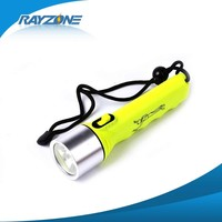 Led waterproof diving flashlight