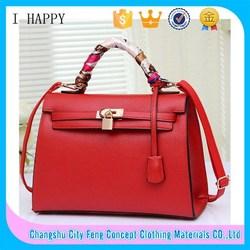 2015 New Products Fashion Women Hand Bag PU Leather handbags