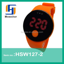 New Products 2015 Bright Color Silicone Girls LED Watch best health festival wristbands for health