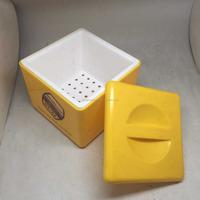 Square double-deck plastic bucket 4 liter