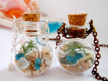 Ocean Style Glass Cover Pendant Necklace Handicraft 2015