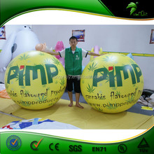 The Best Price Inflatable Green Printing Helium Ball For Advertising