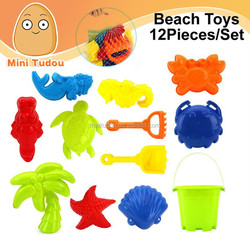 Summer Beach Toys Plastic Sand Beach Toys Set For Kids 12 PCS/Set