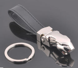new arrival high quality jaguar car leopard key chain keychain key ring key fob