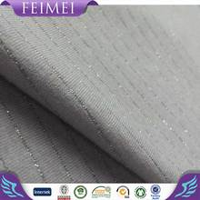 2016 Feimei High Quality Poly Rayon Span Silver Color Bar Fabric in China Manufacturer